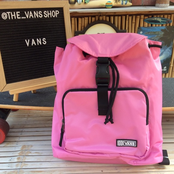 Vans Pretty In Pink Backpack New With Tags!